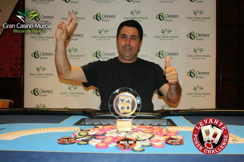 Vera se proclama vencedor de la segunda etapa del Levante Poker Challenge del Gran Casino Murcia