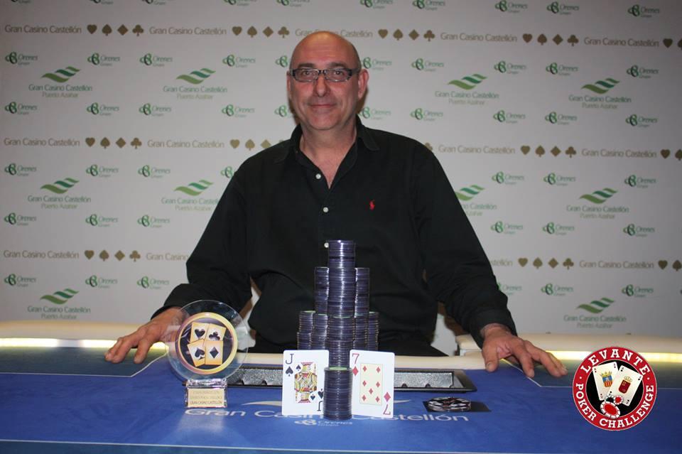 Castell se lleva la etapa del Levante Poker Challenge de Semana Santa en el Gran Casino Castellón frente a 369 jugadores