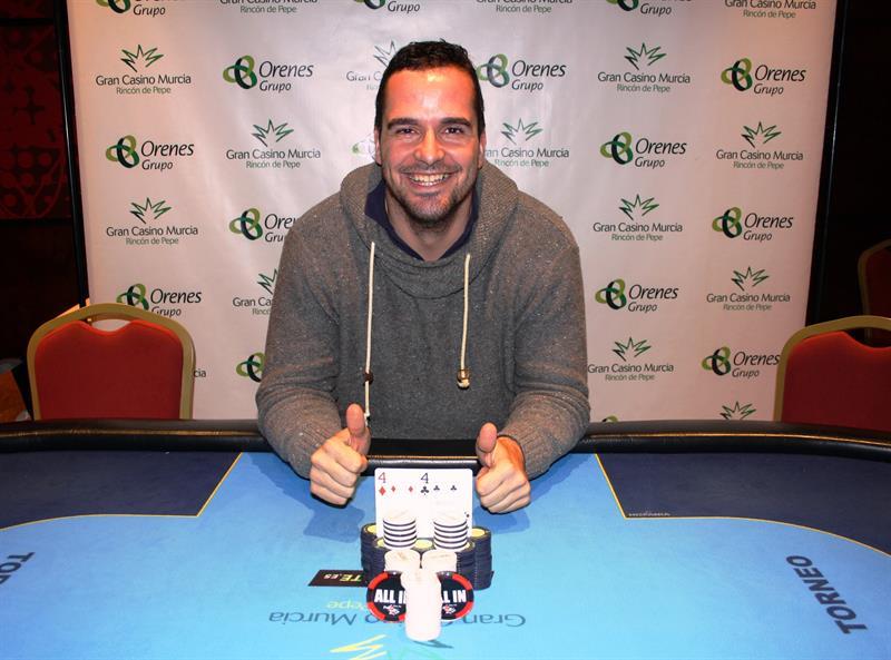 Triplete de Bruno Ortuño con su victoria en la primera etapa del Levante Poker Challenge del 2016 en Gran Casino Murcia