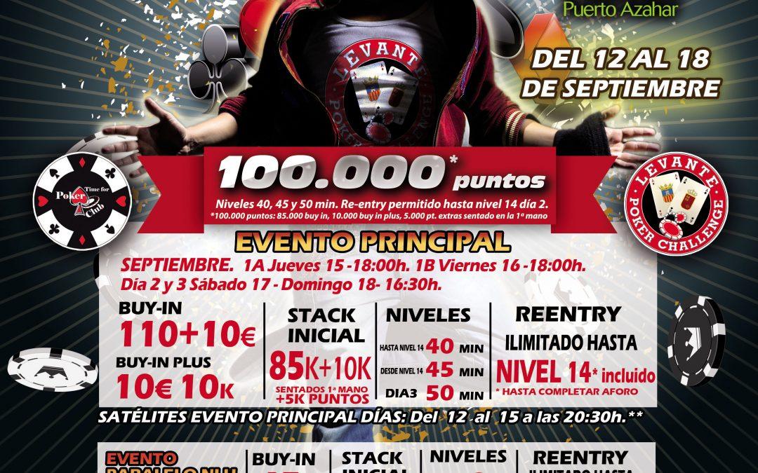 El Levante Poker Challenge tiene nueva cita este jueves en el Gran Casino Castellón