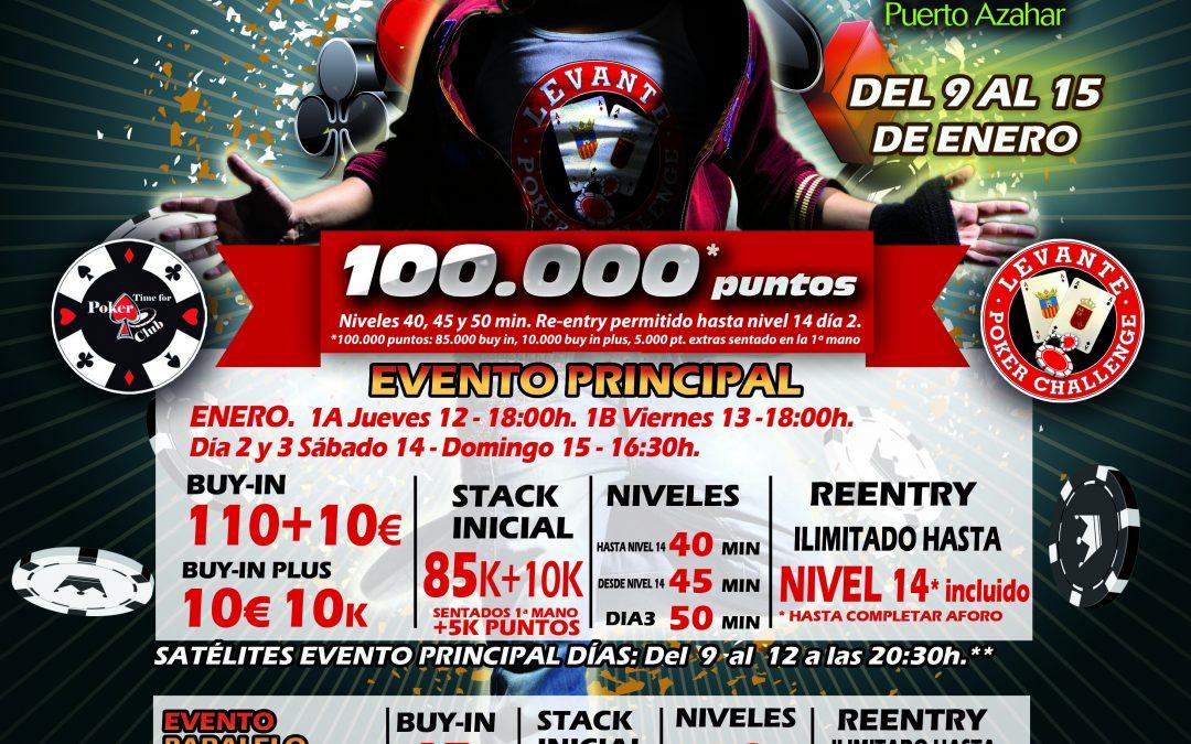 La primera etapa del Levante Poker Challenge 2017 se juega en Gran Casino Castellón en enero
