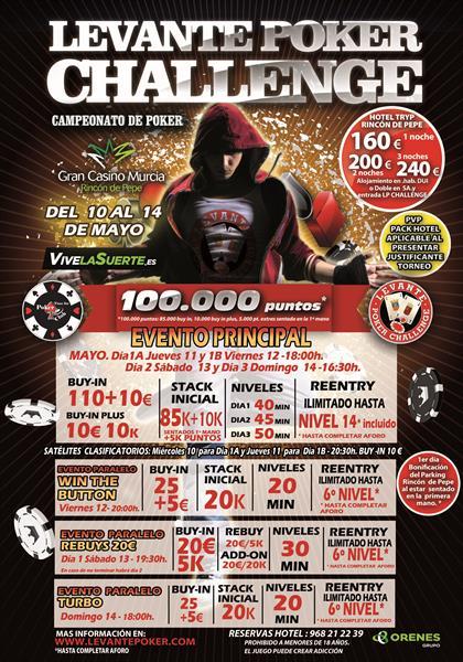 El Gran Casino Murcia acoge la 2ª parada del Levante Poker Challenge en sus instalaciones