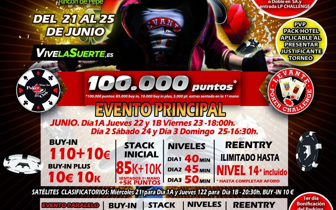 La tercera etapa del Levante Poker Challenge del Gran Casino Murcia se juega en junio