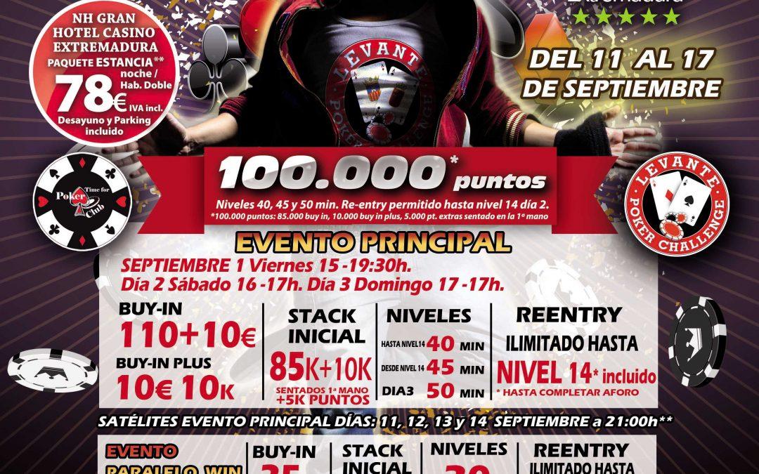 El Levante Poker Challenge de Gran Casino Extemadura será para septiembre en su segunda edición