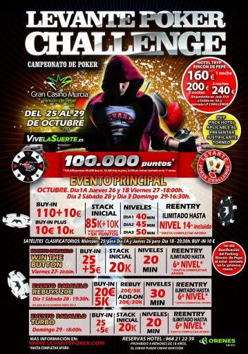 La cuarta cita del Levante Poker Challenge de Gran Casino Murcia comienza el jueves 26 de octubre