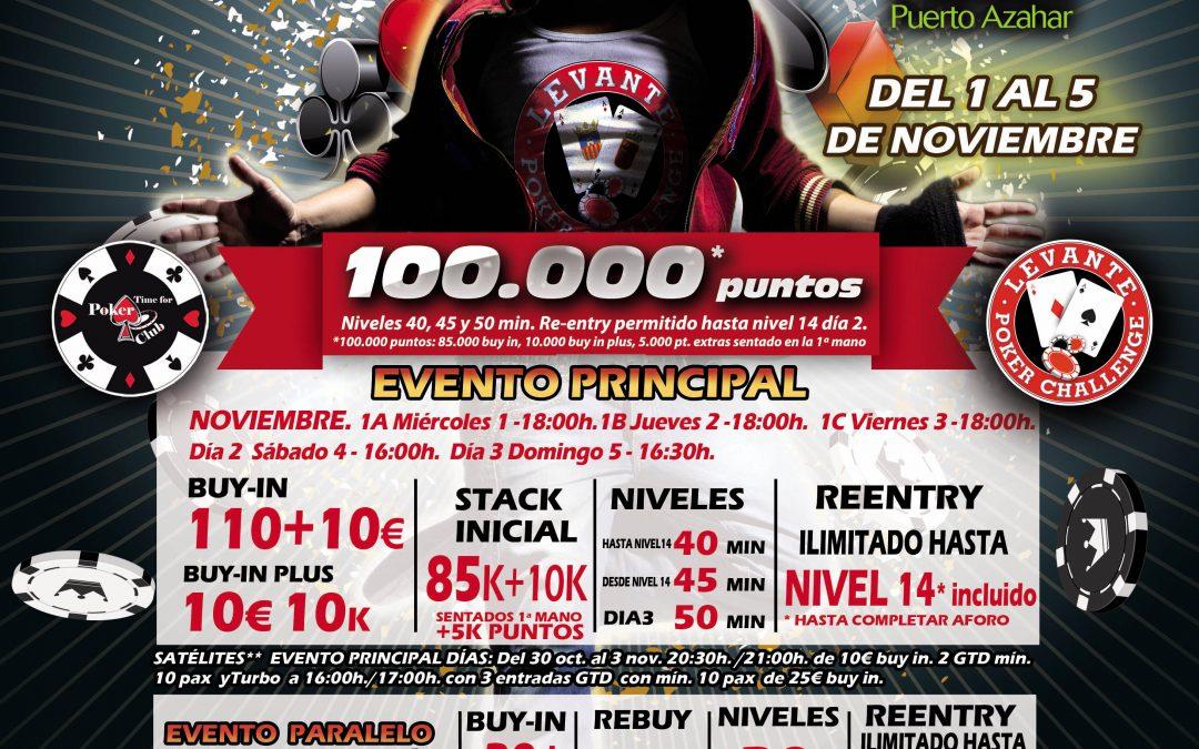 El último Levante Poker Challenge del Gran Casino Castellón antes de la Gran Final se juega esta semana