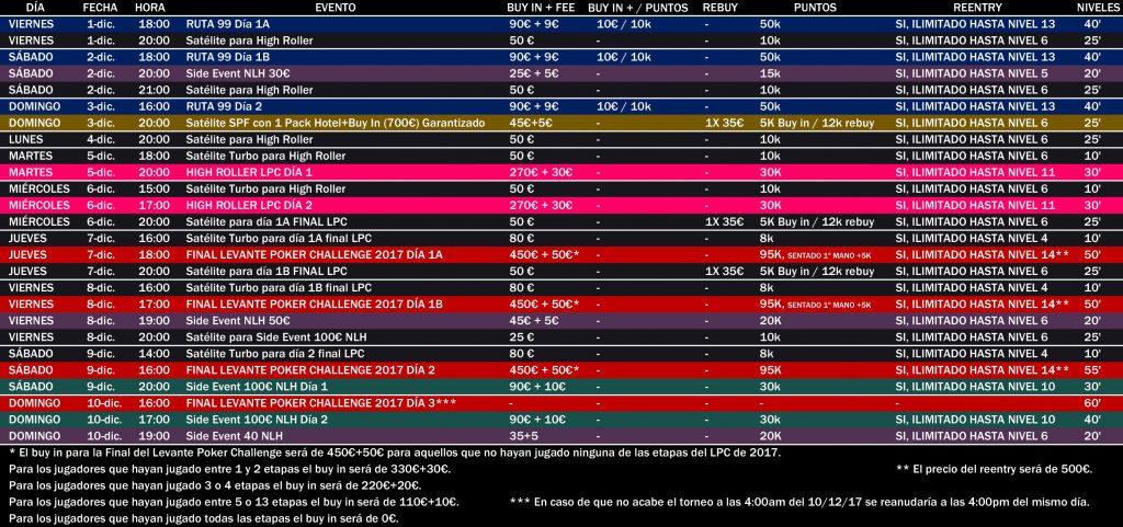 schedule final lpc 2017