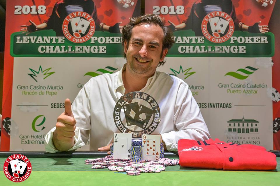 Finaliza la primera etapa del Levante Poker Challenge en Gran Casino Extremadura con Caros como vencedor