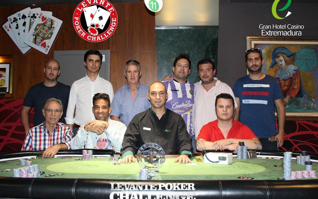 Rui se lleva la segunda etapa del Levante Poker Challenge del Gran Casino Extremadura