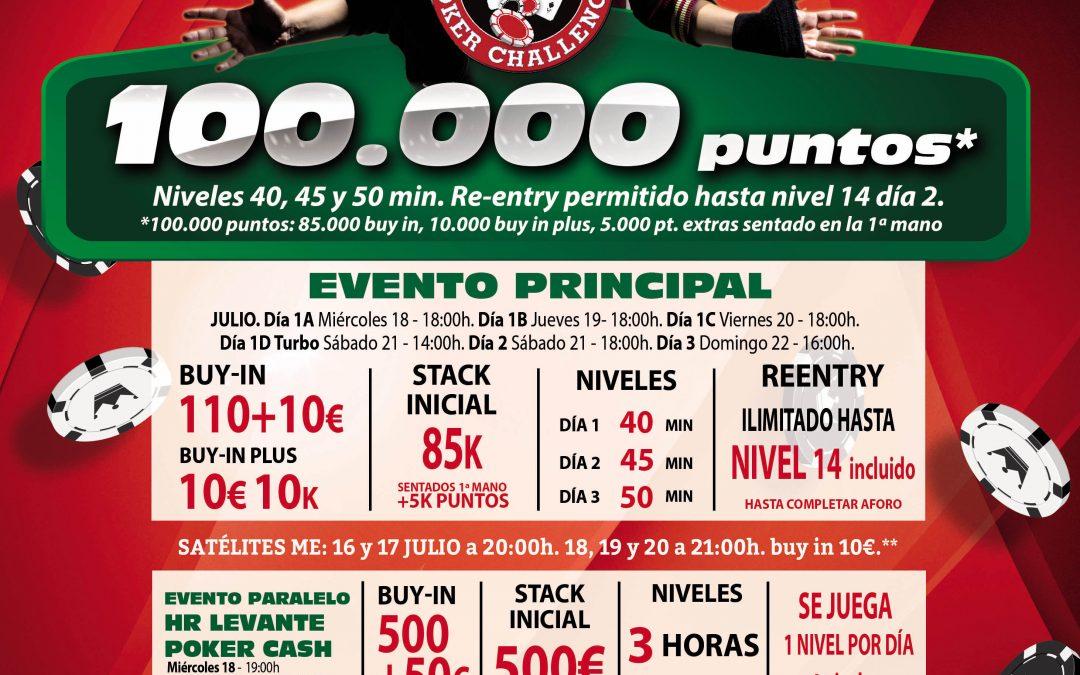 El Levante Poker Challenge de julio en Gran Casino Castellón llega con una gran oferta de juego para los amantes del Poker