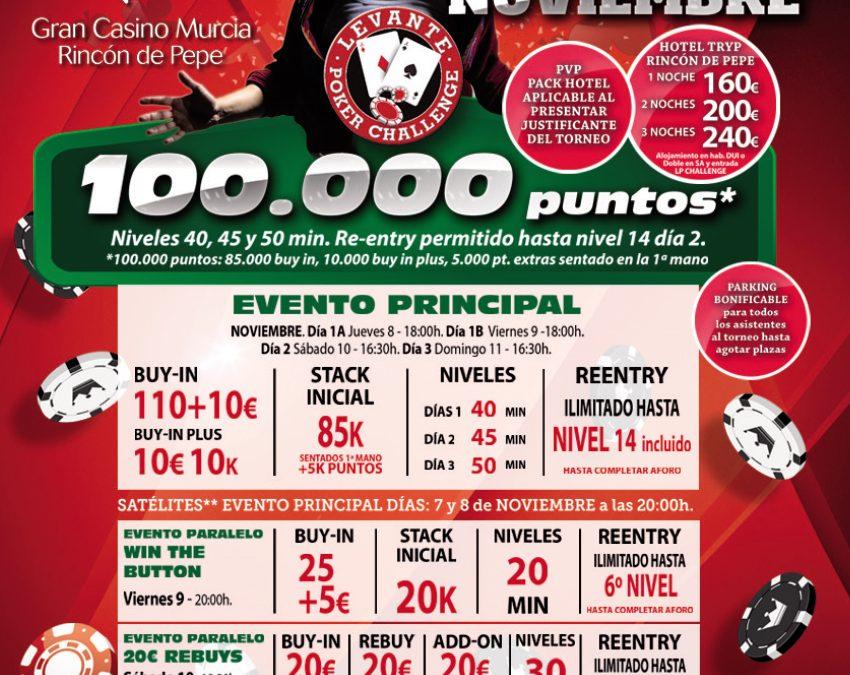 Murcia acoge el último Levante Poker la próxima semana de noviembre antes de la Gran Final