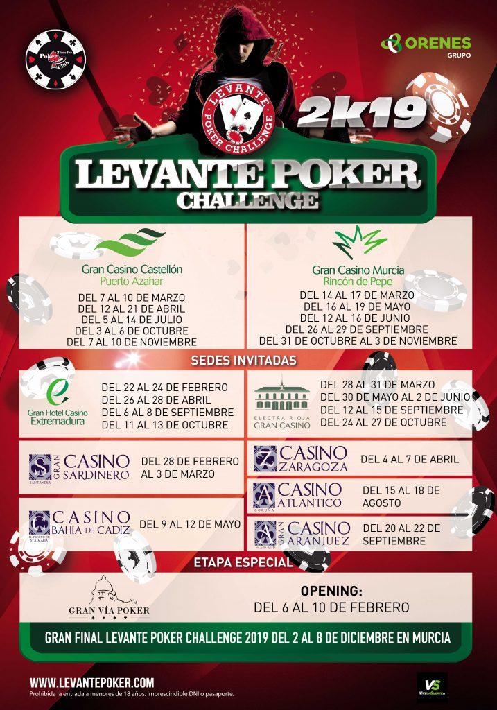 Calendario 2019 Levante Poker