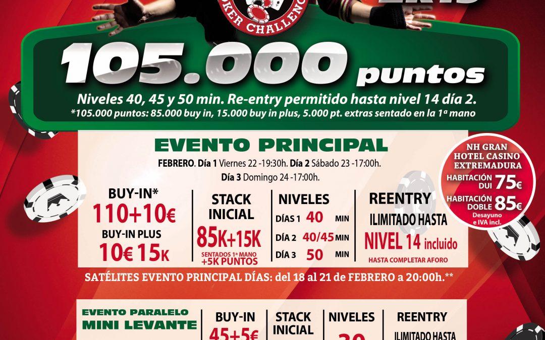 Gran Casino Extremadura acoge la primera etapa del Levante Poker Challenge 2k19 del Grupo Orenes tras visitar Gran Vía
