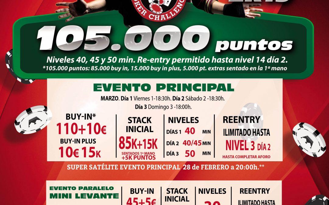 El Levante Poker Challenge pone rumbo esta semana al Gran Casino Sardinero