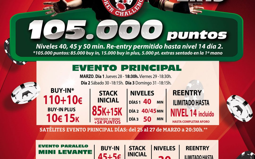 Electra Rioja Gran Casino acoge este fin de semana la primera etapa del Levante Poker Challenge 2k19