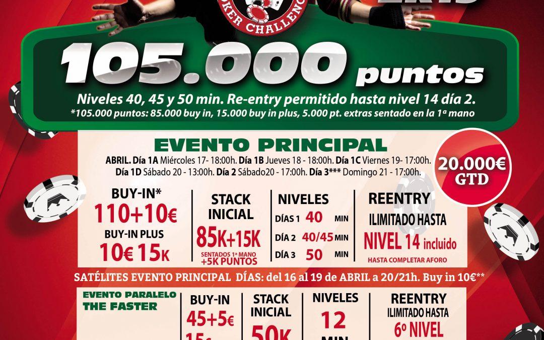 El Gran Casino Castellón recibe en Semana Santa la etapa especial del Levante Poker Challenge 2k19