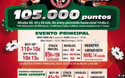 Electra Rioja Gran Casino cierra las etapas previstas en el mes de mayo del Levante Poker Challenge