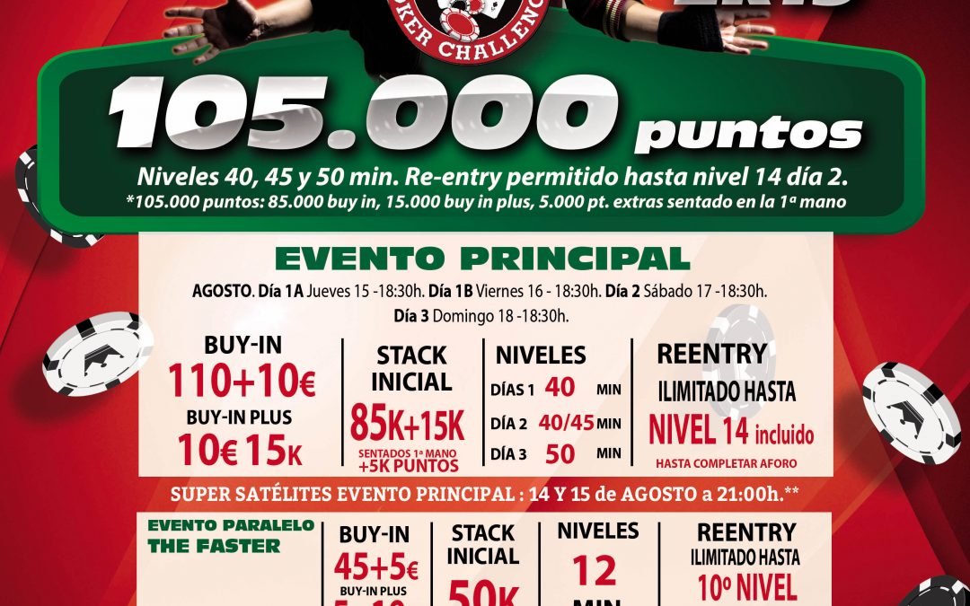 En agosto el fresquito nos espera en el Casino Atlántico con su etapa especial de Levante Poker Challenge