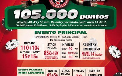 Gran Casino Aranjuez acoge la 17ª etapa del circuito Levante Poker Challenge 2k19 este próximo fin de semana