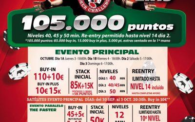 La primera etapa del Levante Poker Challenge a disputar en el mes de octubre arranca este fin de semana en Orenes Gran Casino Castellón