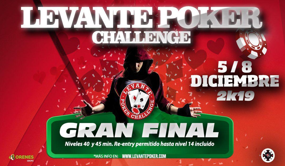 La Gran Final del Levante Poker Challenge 2k19 se disputará en los 4 Casinos del Grupo Orenes en el puente de diciembre