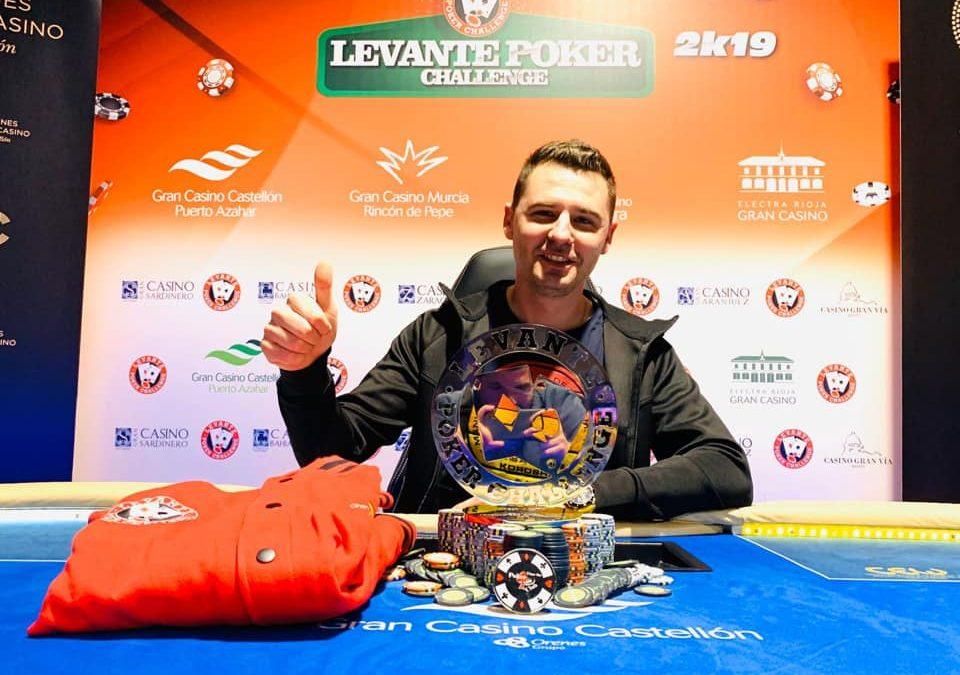 """Rubén Cortes se lleva el trofeo con el """"premio gordo"""" de la Gran Final del Levante Poker Challenge 2k19"""