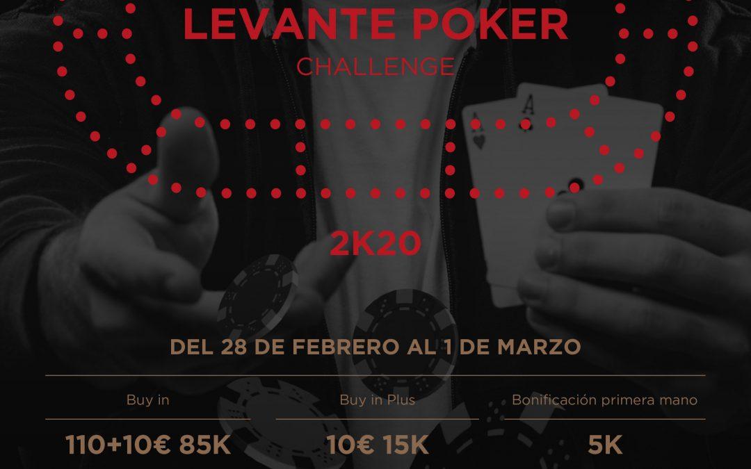 El primer Levante Poker Challenge 2k20 de Orenes Gran Casino Extremadura se juega este fin de semana